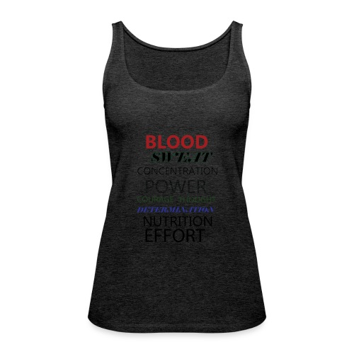 Gym typeography - Women's Premium Tank Top