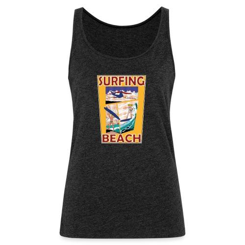 Surfing beach comic Urlaub t-shirt - Frauen Premium Tank Top