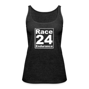 Race24 Logo - White - Women's Premium Tank Top