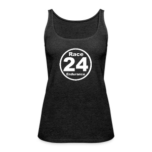 Race24 round logo white - Women's Premium Tank Top