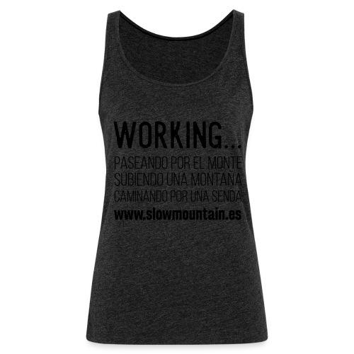 Working - Camiseta de tirantes premium mujer