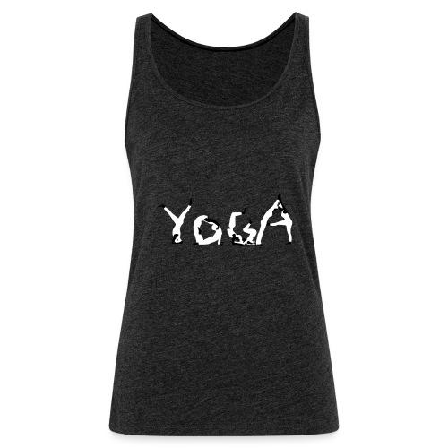 Yoga white - Frauen Premium Tank Top