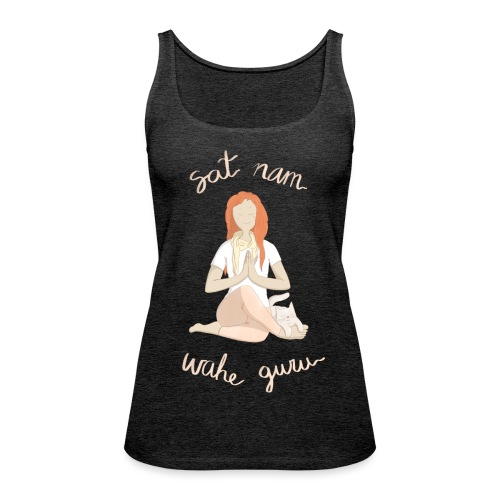 Meditando con mantras - Camiseta de tirantes premium mujer