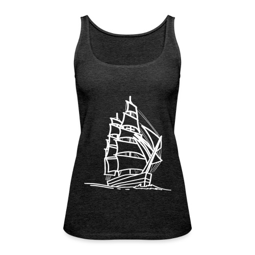 Segelschiff Illustration Meer Schiff Bootsfahrt - Frauen Premium Tank Top