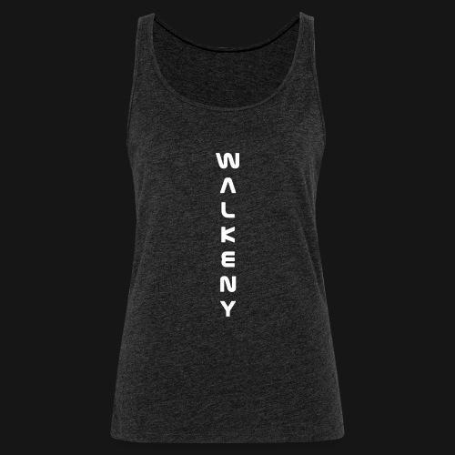 Walkeny Schriftzug vertikal in weiß - Frauen Premium Tank Top