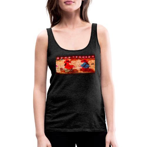 Dos Paisanitas tejiendo telar inca - Camiseta de tirantes premium mujer