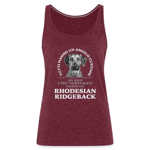 Rhodesian Ridgeback Angelo Custode Nero - Canotta premium da donna