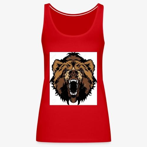 oso grizzly mascota cabeza vectorial - Camiseta de tirantes premium mujer
