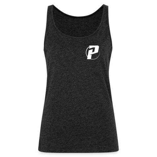 p logo all white - Women's Premium Tank Top