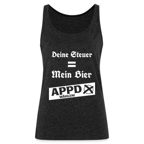 Deine Steuer ist mein Bier2 - Frauen Premium Tank Top