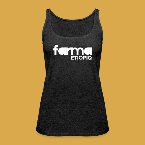 Farma Etiopiq straight logo - Premiumtanktopp dam
