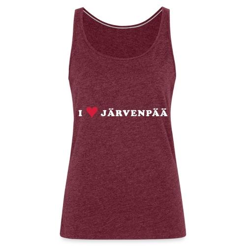 I LOVE JARVENPAA - Naisten premium hihaton toppi
