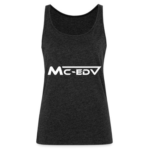 MC EDV white black outline - Frauen Premium Tank Top