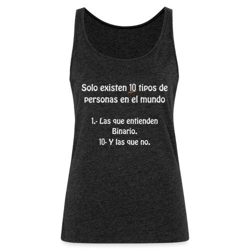 binario - Camiseta de tirantes premium mujer