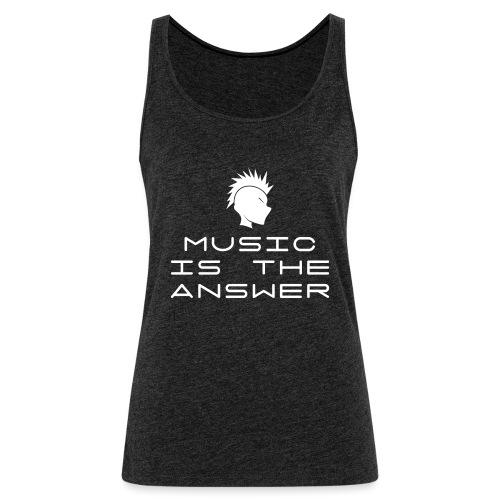 Mohawk Logo - Music is the Answer - Women's Premium Tank Top