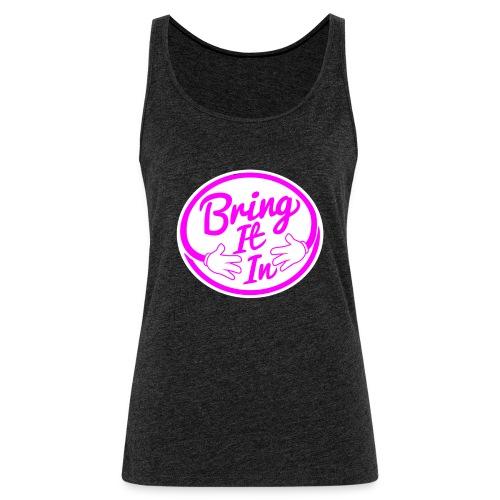 BII Pink font png - Women's Premium Tank Top