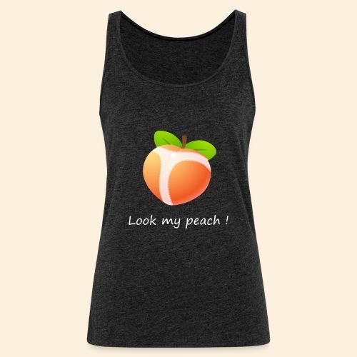 Look my peach in white - Women's Premium Tank Top