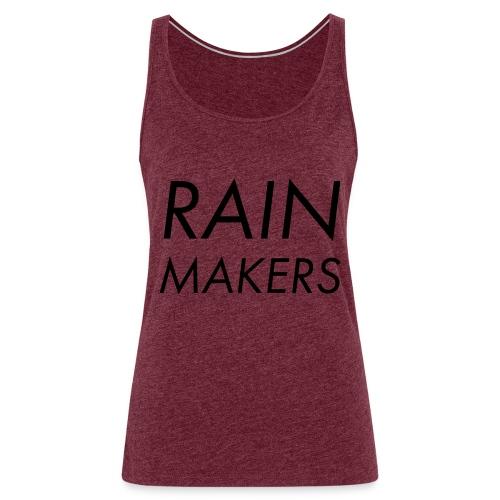 rainmakertext - Naisten premium hihaton toppi