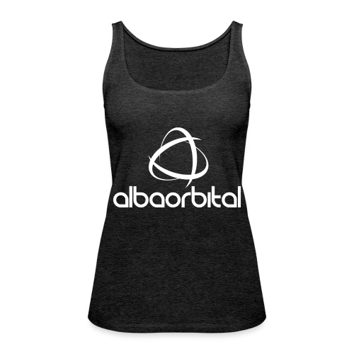 Alba Orbital Logo - White - Women's Premium Tank Top