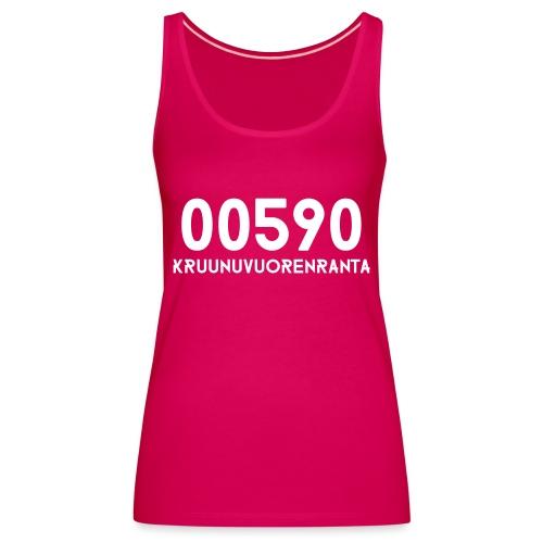 00590 KRUUNUVUORENRANTA - Naisten premium hihaton toppi