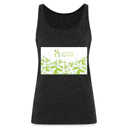 logo hvit og grønn coaching by heart - Premium singlet for kvinner