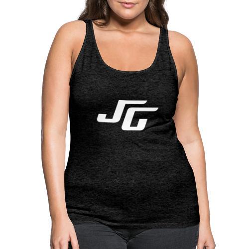 JG Logo weiss - Frauen Premium Tank Top