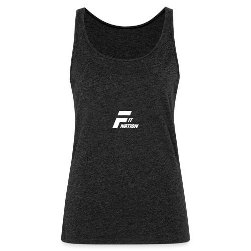 FitNation White - Camiseta de tirantes premium mujer