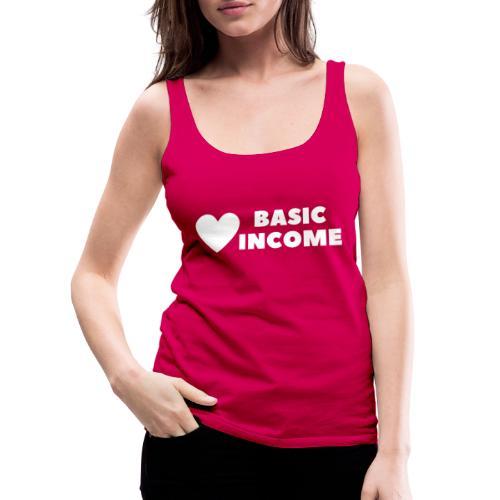 basic income white trans - Vrouwen Premium tank top