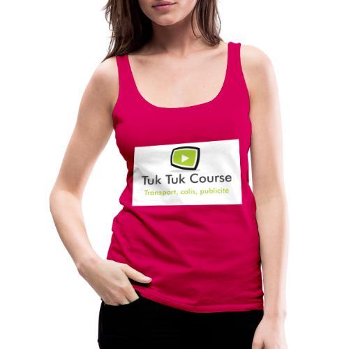 Logo tuk tuk course - Débardeur Premium Femme