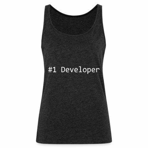 #1 Developer - White - Women's Premium Tank Top