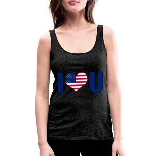 I love u USA - Premium singlet for kvinner
