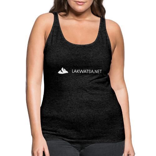 White logo no background - Women's Premium Tank Top