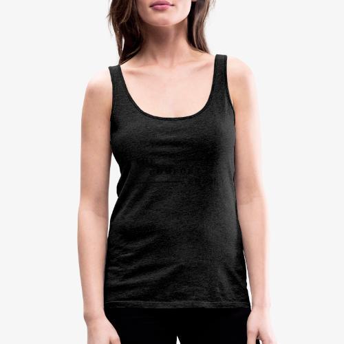 Logo zwart The Comfort Zone - Vrouwen Premium tank top