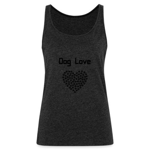 Dog love - Tank top damski Premium