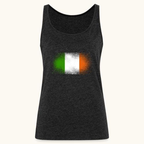 Irland Grunge irische Flagge lustig Geschenk Ire - Débardeur Premium Femme