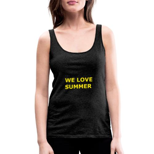 we love summer - Frauen Premium Tank Top