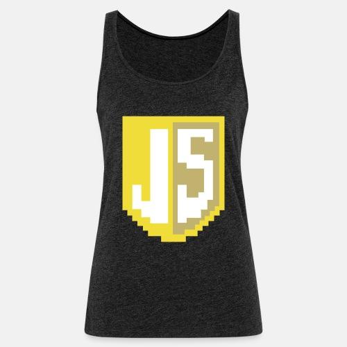 JavaScript Pixelart logo - Women's Premium Tank Top