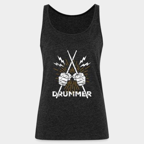 Drummer Schlagzeug Drumsticks Rock'n'Roll - Frauen Premium Tank Top