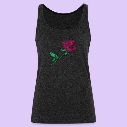 Diseño rose - Camiseta de tirantes premium mujer