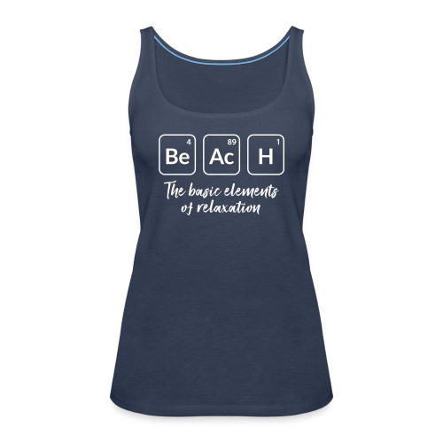 relaxation at the beach - Frauen Premium Tank Top