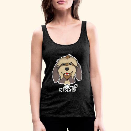 Nice Dogs Pastore Catalano - Canotta premium da donna