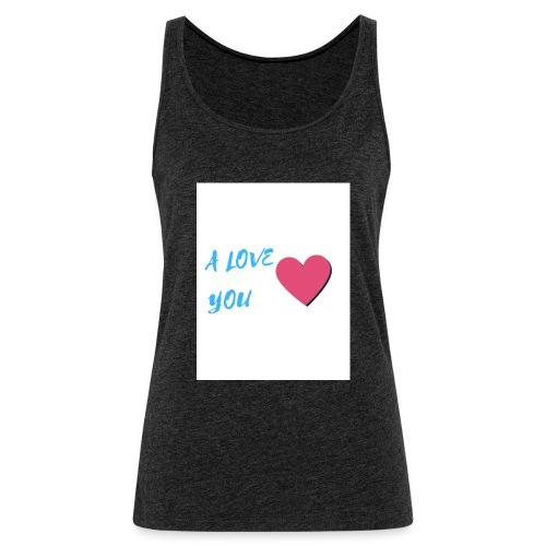 A LOVE YOU BLEU - Débardeur Premium Femme