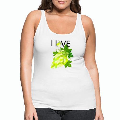 White Grape Love - Frauen Premium Tank Top