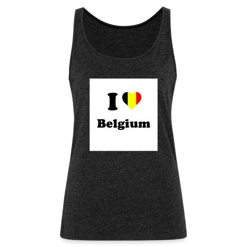 i love belgium - Vrouwen Premium tank top