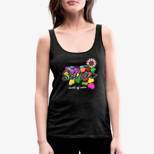 SOLRAC Hearts black - Camiseta de tirantes premium mujer