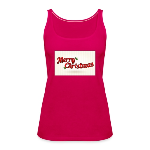 merry christmas design - Vrouwen Premium tank top