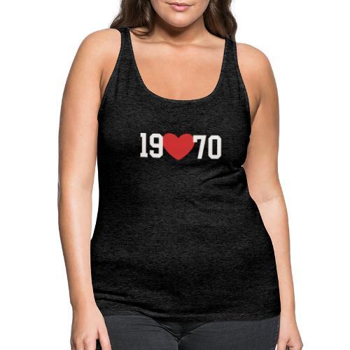19 heart 70 - Frauen Premium Tank Top