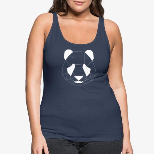 Panda Geometrisch weiss - Frauen Premium Tank Top