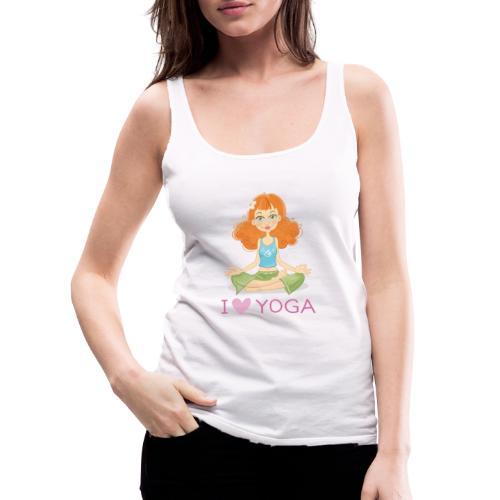 Yoga Lotus Pose Cartoon Girl - Frauen Premium Tank Top