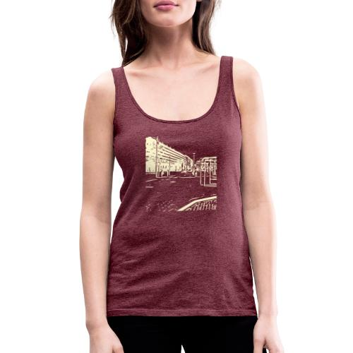 helsinki railway station pattern trasparent beige - Women's Premium Tank Top